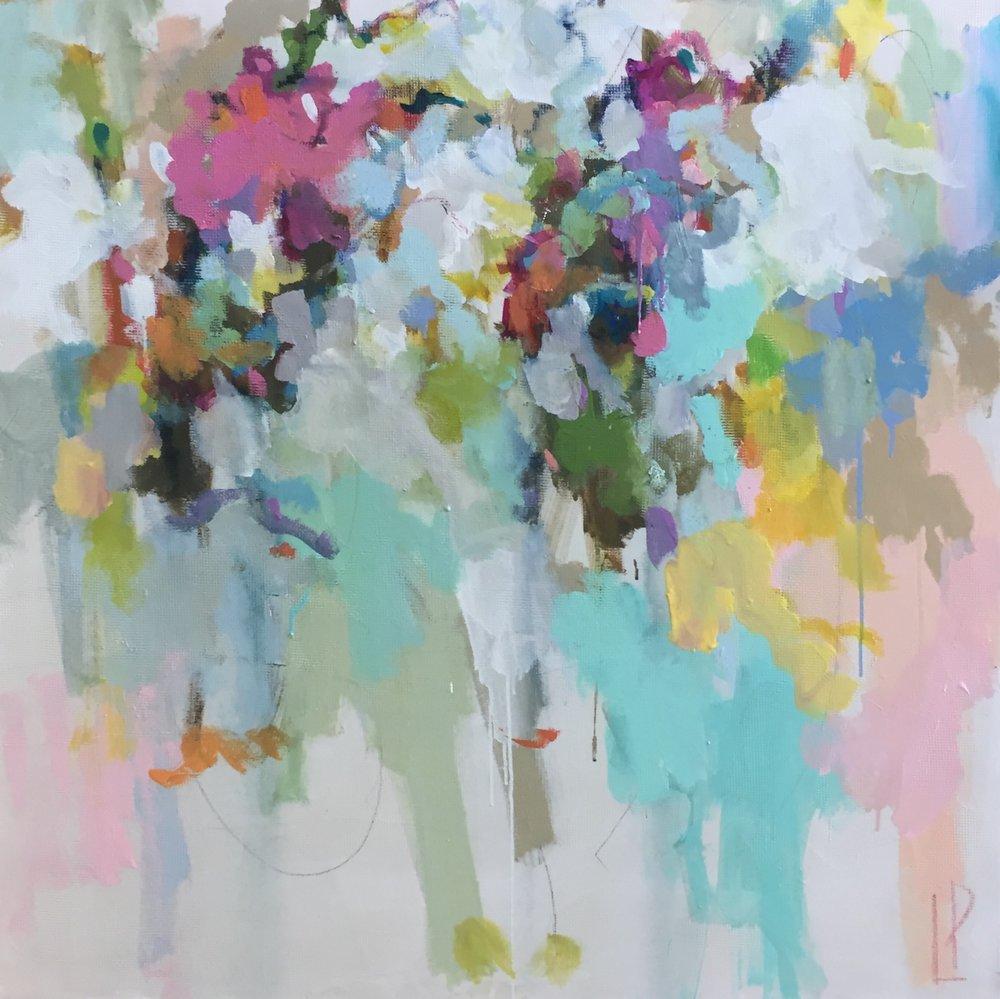40x40  Acrylic and mixed media on canvas