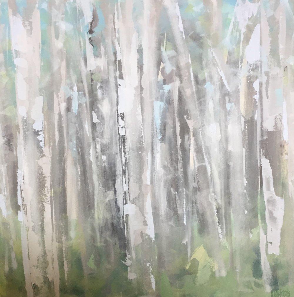 42x42  Oil on canvas framed