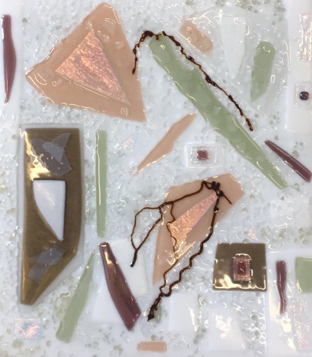 White & Pastel Fused Glass
