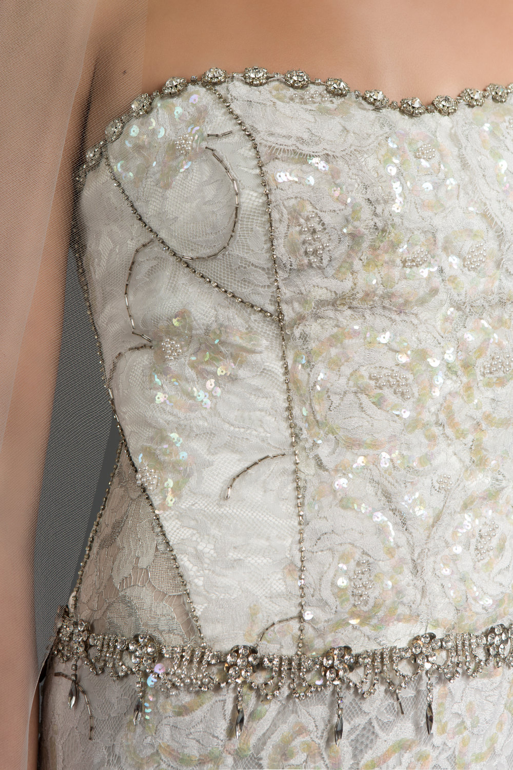 Details on the Elyse gown from Victoria Spector Bridal Couture