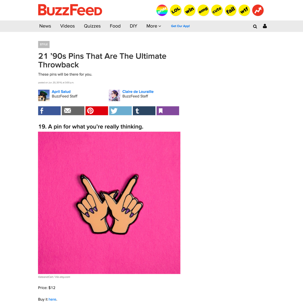 BuzzFeed - 21 '90s Pins That Are The Ultimate Throwback