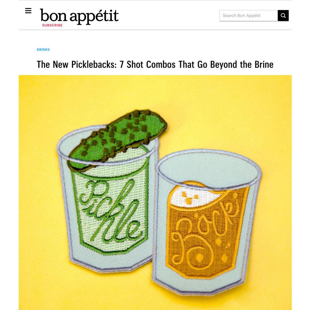 Bon AppÉtit - The New Picklebacks: 7 Shot Combos That Go Beyond the Brine
