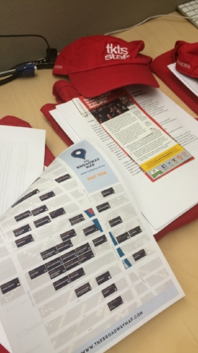 The Broadway Map is proud to be included in the staff training packets for the Times Square TKTS booth.