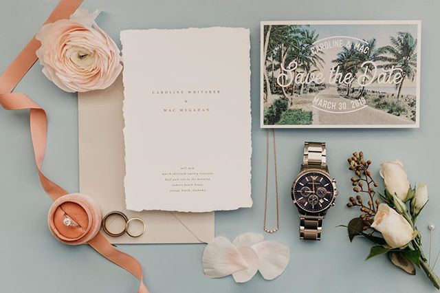 When you show up to your wedding and the couple already has all the details ready ❤️ Coordination + Florals @coastalsoirees  Officiant Neil Zanthos Invites @augustandwhitedesigns  Cake @bluejaysbakery  Various Rentals @eventswithsoho, @hemstitch_vintage  Photo Bus @theposeybus . . #gulfcoastbride #weddingphotographer #pensacolabride #pensacolaweddingphotography #destinationweddingphotographer