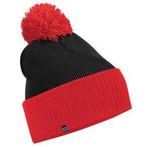 fba5b6d4560 SNOW STAR BEANIE - BLACK   RED