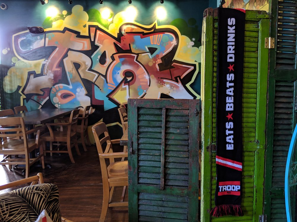 Troop PVD - Troop PVD - TROOP IS AN ELEVATED STREET CASUAL RESTAURANT THAT HAS ITS ROOTS IN STREET FOOD FROM AROUND THE WORLD. INSPIRED BY THE GOLDEN AGE OF HIP HOP, AS WELL AS STREET CULTURE FOR AESTHETIC INSPIRATION. TROOP IS FAST, FUN, FRESH, AND FAMILIAR. OUR PHILOSOPHY IS SIMPLE : GREAT FOOD, A COOL VIBE, AND INTERESTING