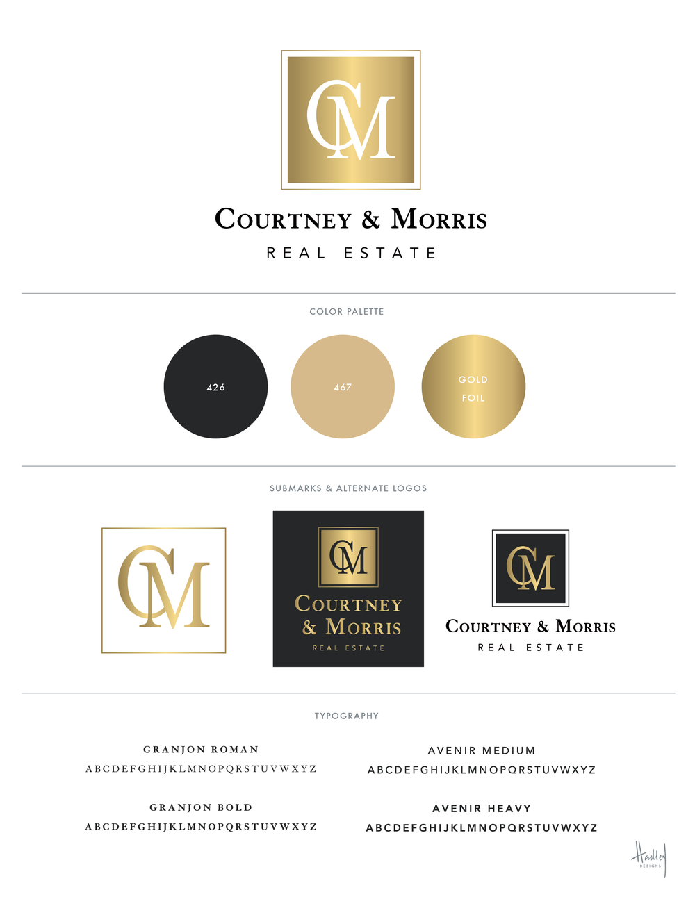 I just finished the new branding for Courtney & Morris Real Estate. They were undergoing some changes and were ready for a new look. View their current website (with old branding) to see the transformation. New website is in the works...
