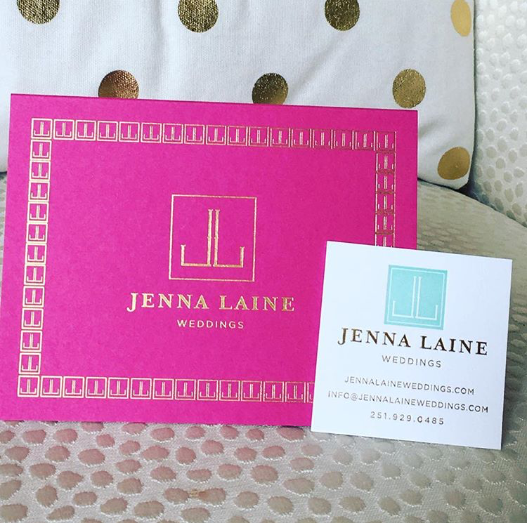 These pictures don't do it justice...but the letterpress and gold foil is spot on! Love working with Jenna Laine Weddings!