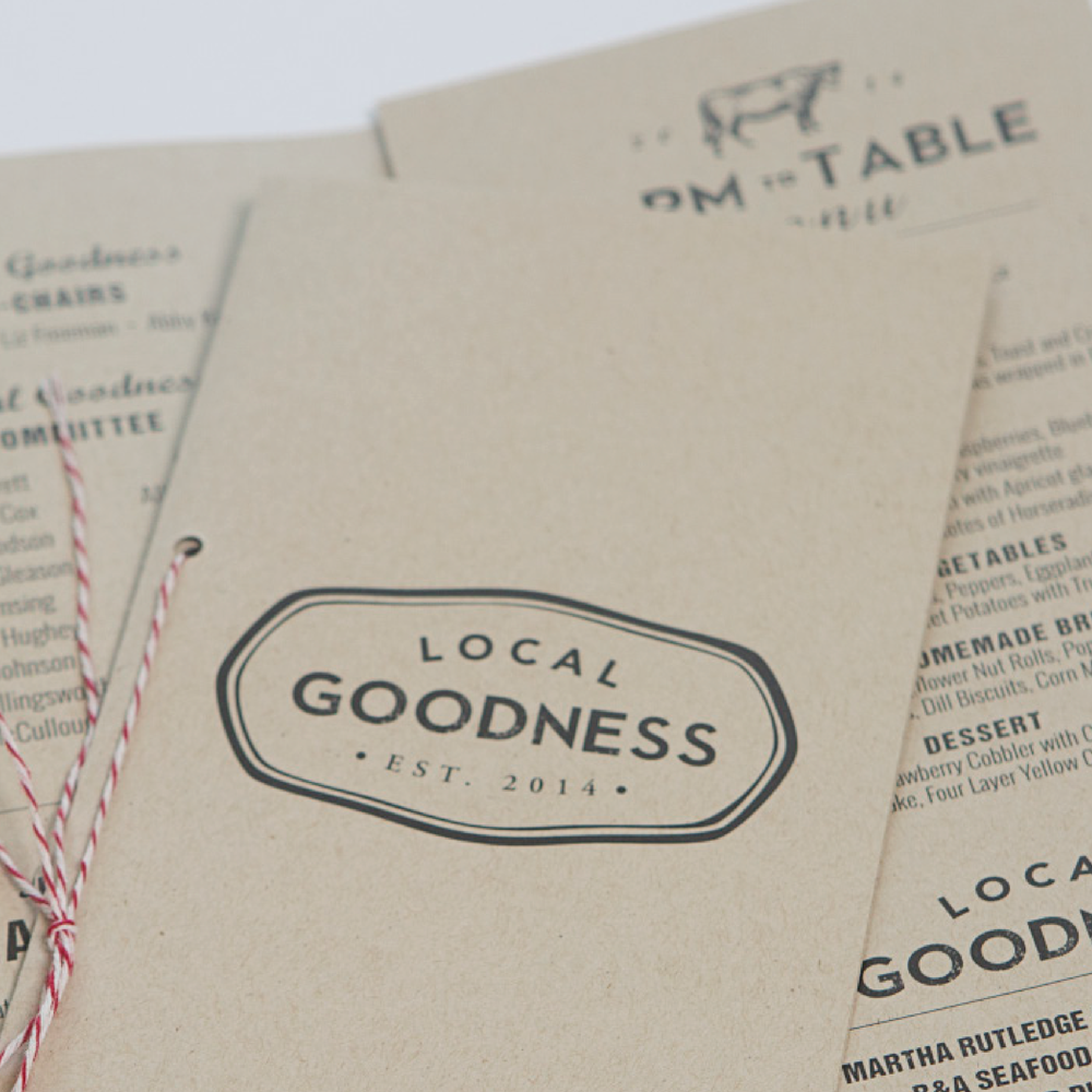 Local Goodness brand // print