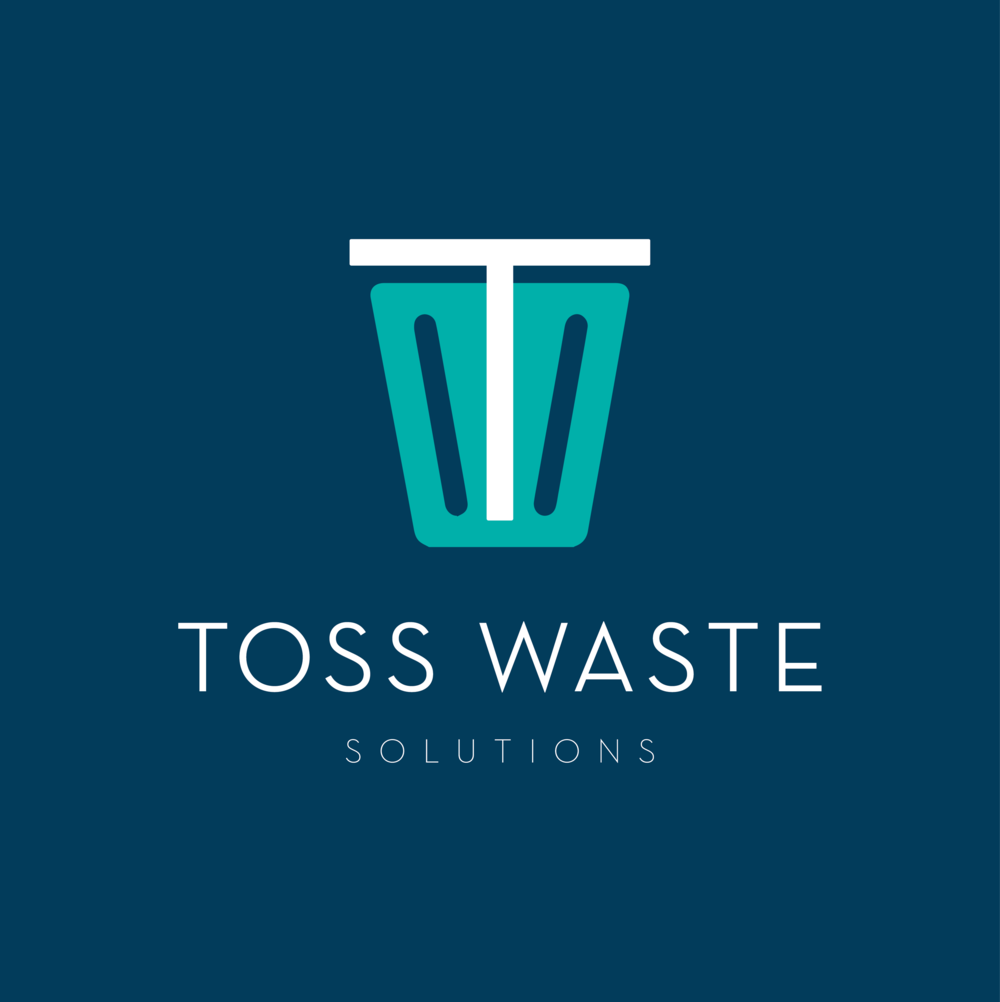 Toss Waste Solutions brand // print