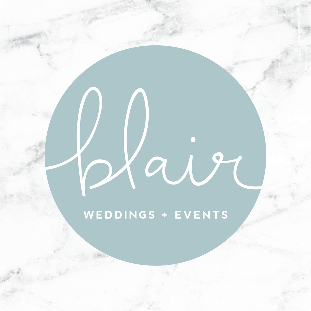 Blair Weddings + Events brand // print