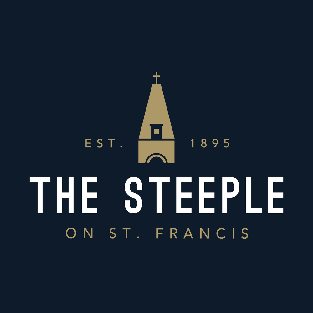 The Steeple on St. Francis brand // print
