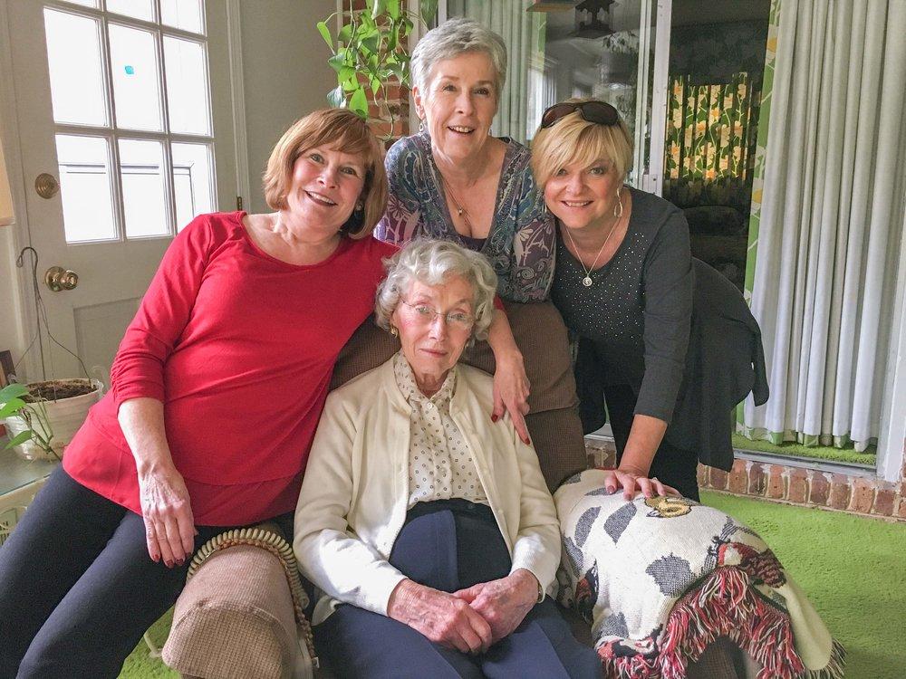 Angela Ellsberry Nesbit, Diane Ellsberry Morris, Christina Ellsberry Byrd, Dorothy Todd
