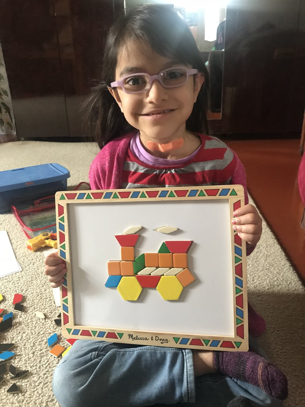 """""""I did it!"""" Working with matching shapes and making shapes! :-)"""