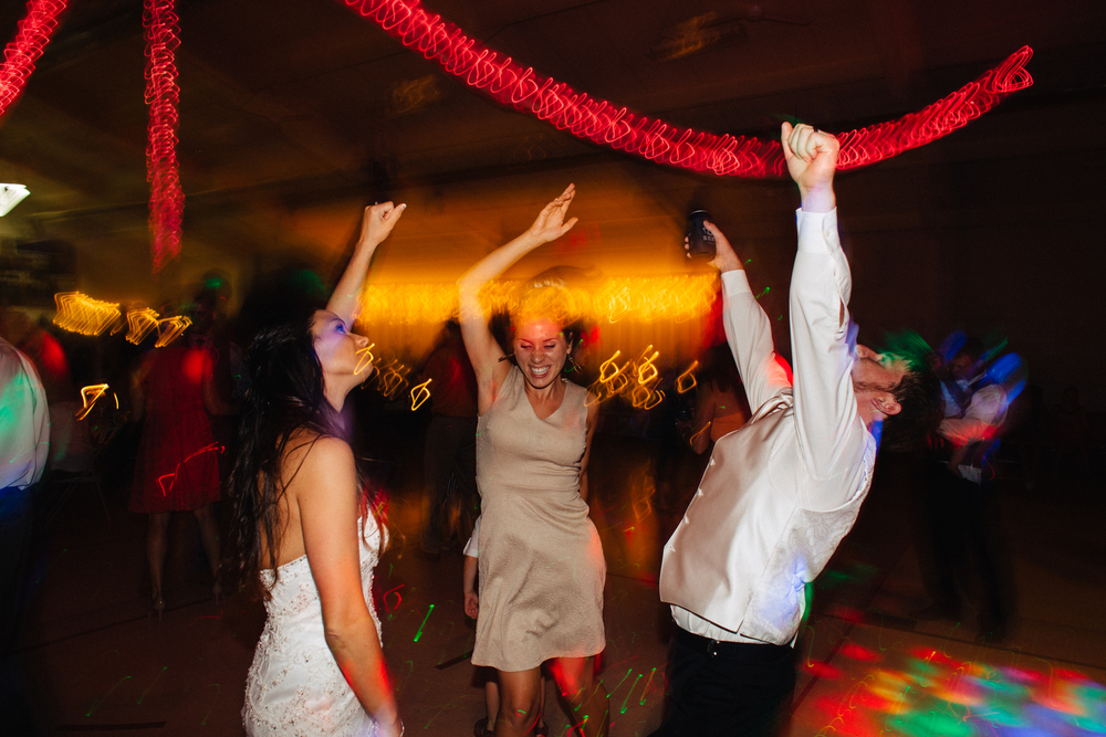 Thank you to my second shooter  Elena  for taking this shot of me dancing with Kimberly and Scott. Proof that your clients can become friends and will dance with you!