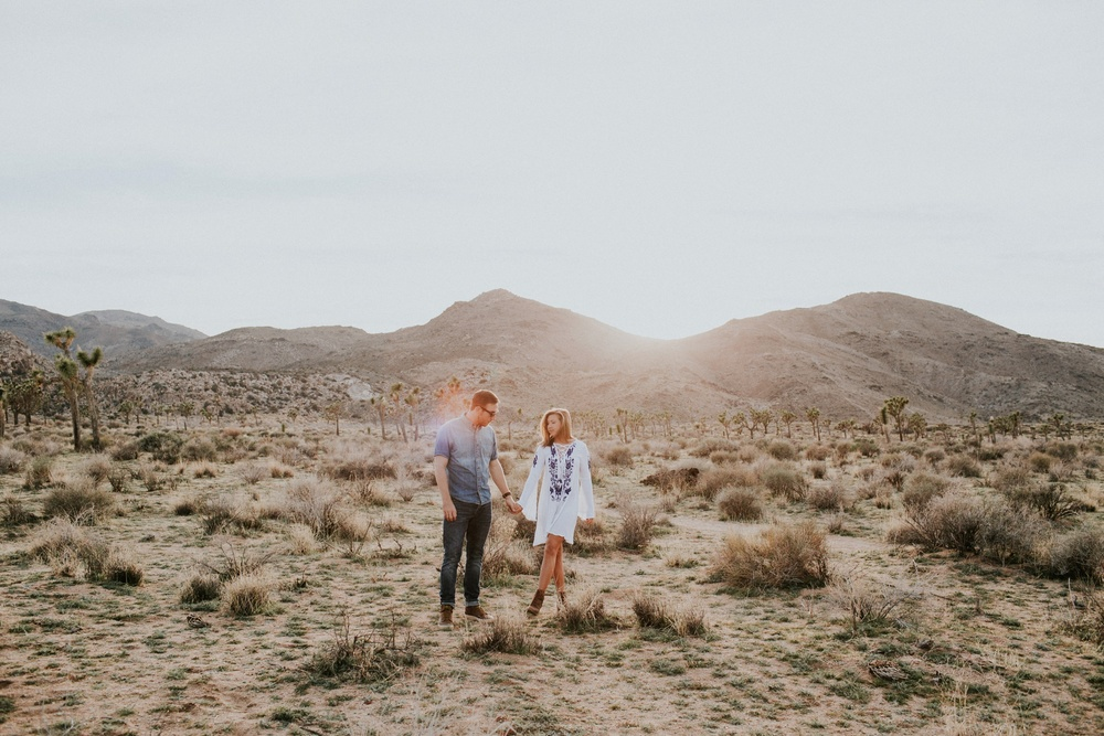 Katie and Josh's session in Joshua Tree, California