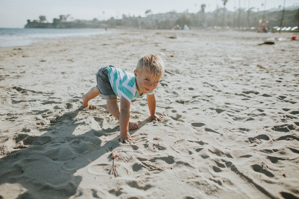 Cohen loved doing yoga on the beach.