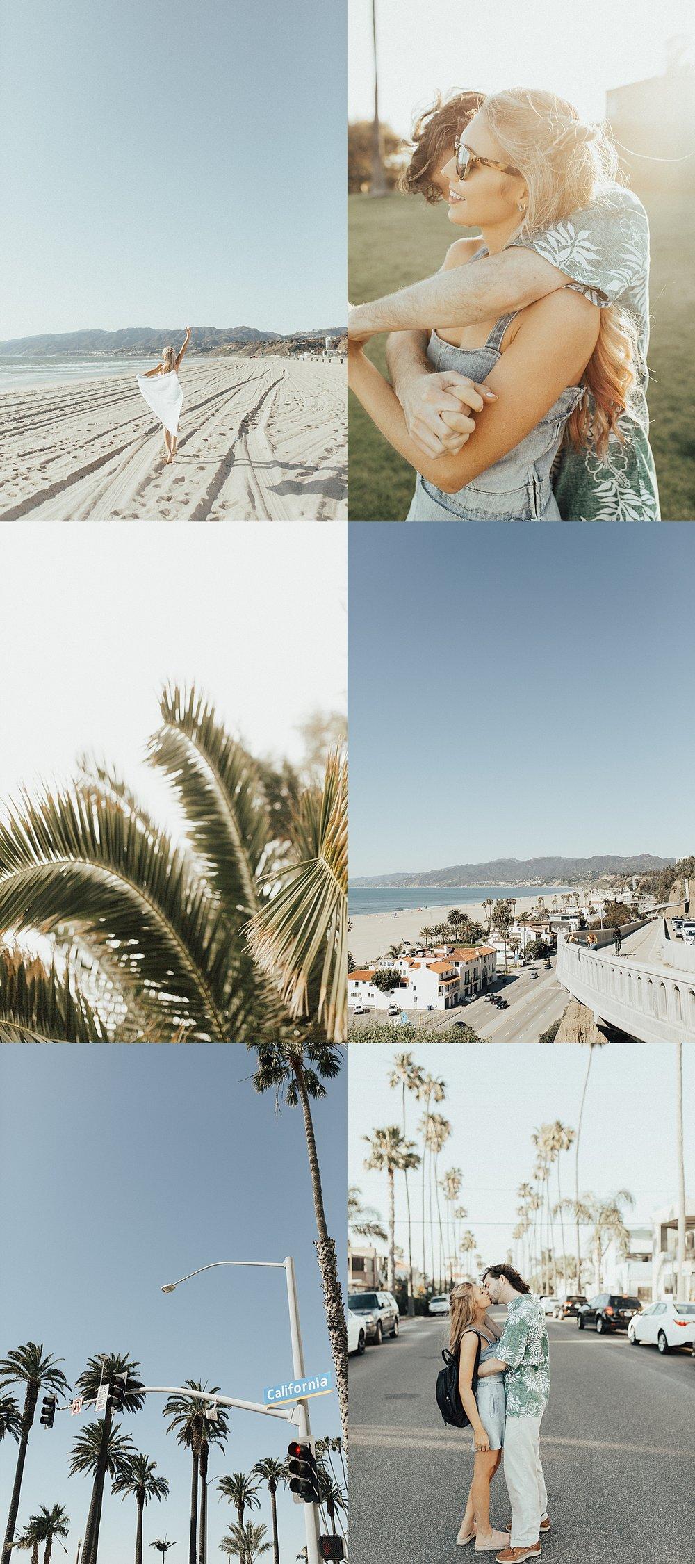 Santa Monica Engagement Shoot Location in SoCal