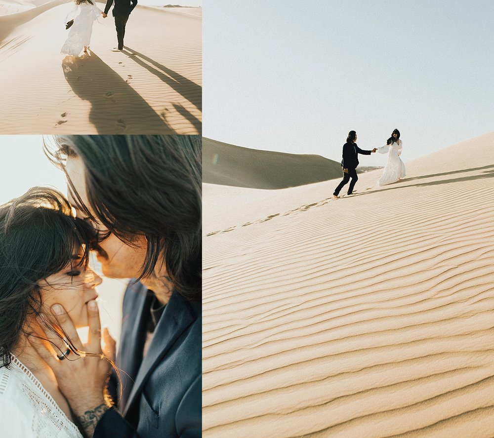 Imperial Sand Dunes Elopement Inpsiration