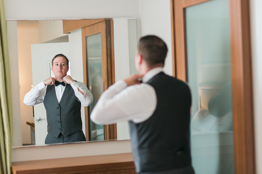 Self Reflection during Groom Prep