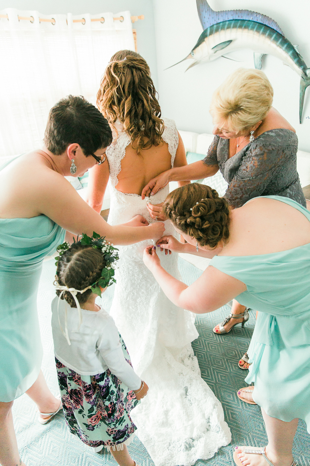 Teamwork During Bridal Preparations