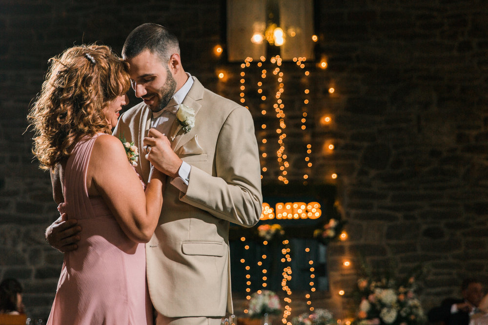 A Dramatic Mother and Son First Dance