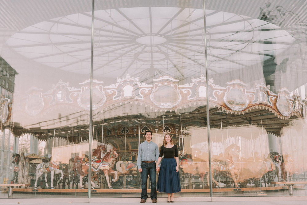 A Complex Reflection within Jane's Carousel in Brooklyn