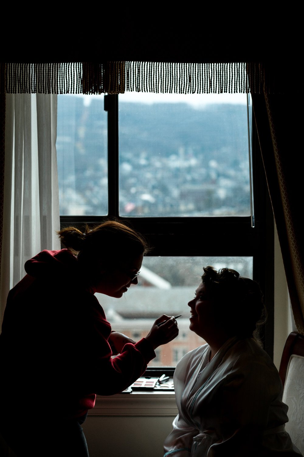 Bridal Prep with a Valley View at Hotel Bethlehem