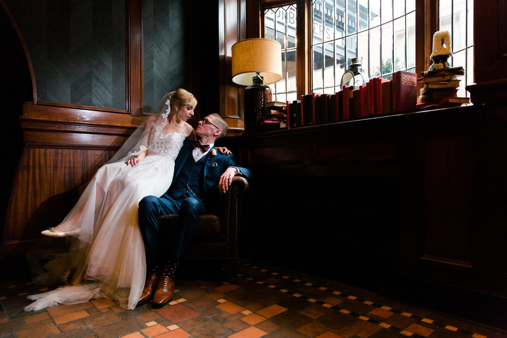A Dramatic Wedding Portrait in Philadelphia, PA