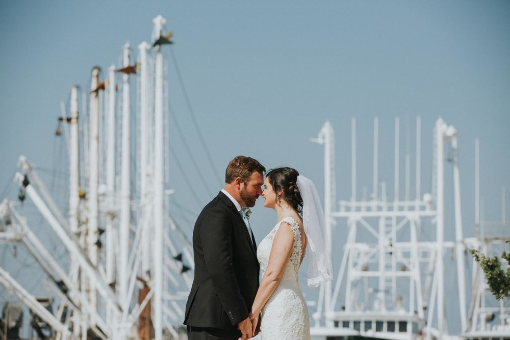 Bride and Groom Cape May Boats Water Wedding.JPG