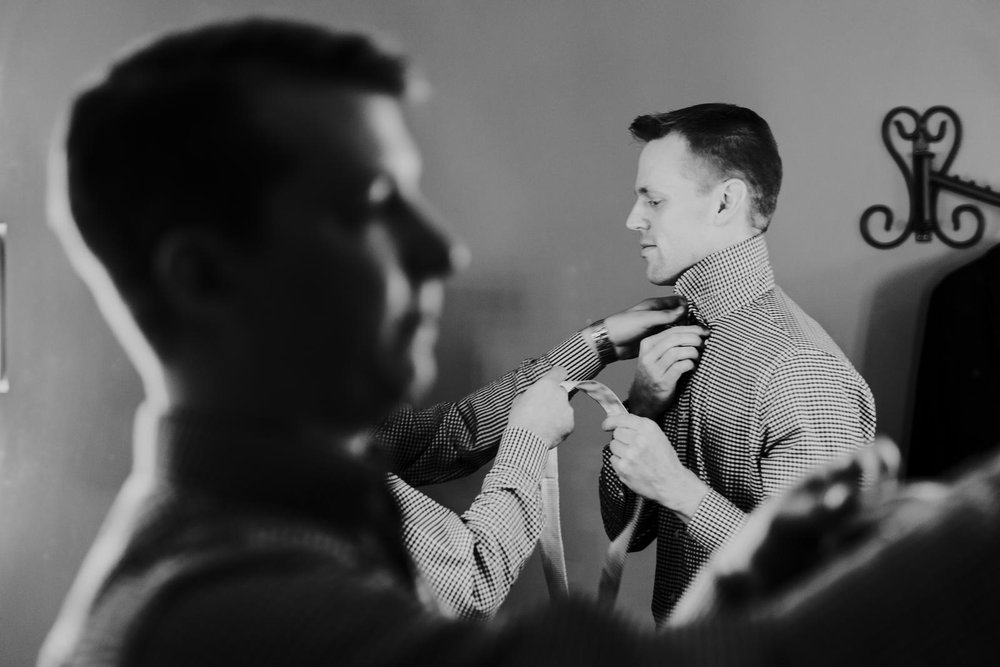 Gay Wedding Groom Getting Ready Tie.JPG