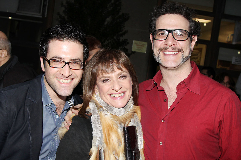 with Patti LuPone and Adam Feldman photo by Bruce Glikas