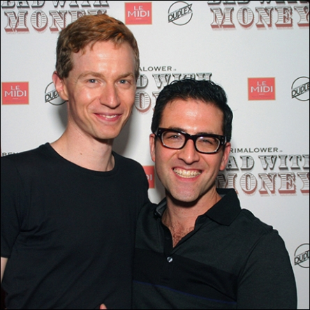 with Max Steele photo by Michael Portantiere for Playbill