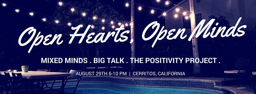 Hey everyone! For all my friends in the LA area, I am co-hosting a very special evening on August 29th with BIG TALK, Mixed Minds, and The Positivity Project. It will be filled with delicious food, drinks, artsy activities, and some Big Talk (of course!)  If interested in learning more and attending,  please join the Facebook group , and message me (Kalina!) to be invited.