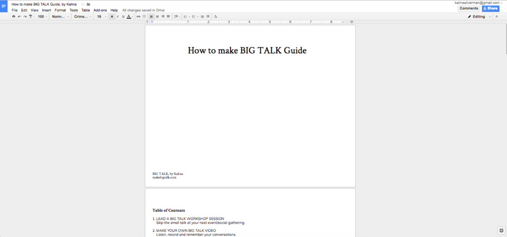 "CLICK HERE to read ""How to Make Big Talk Guide"""