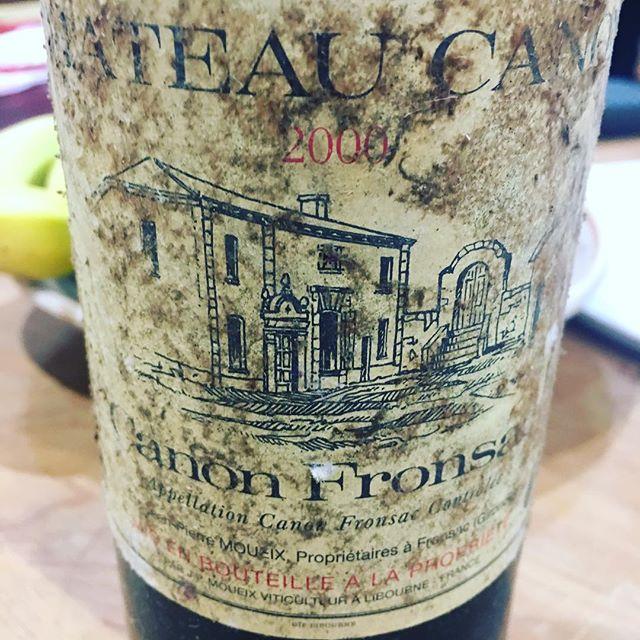Chateau Canon 2000. . . . #chateaucanon #saintemilion #redwine #wine #lincolnshire #lincolnshirewolds