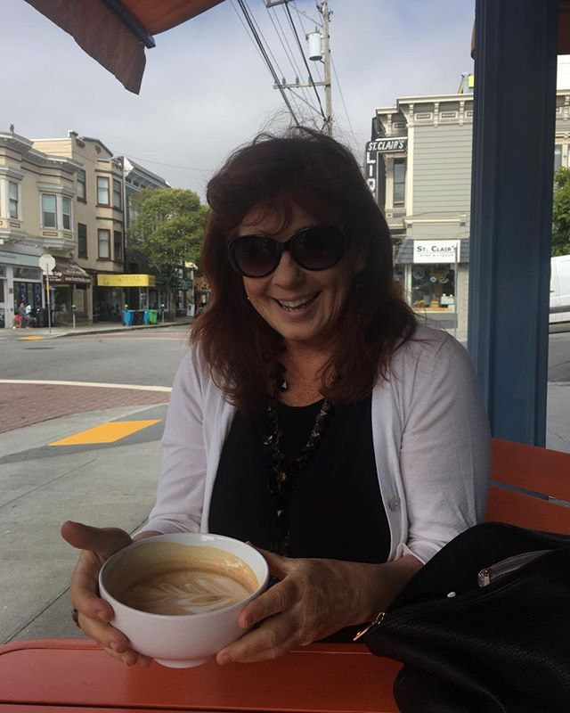 Beautiful cappuccino bowl #ileftmyheartinsanfrancisco
