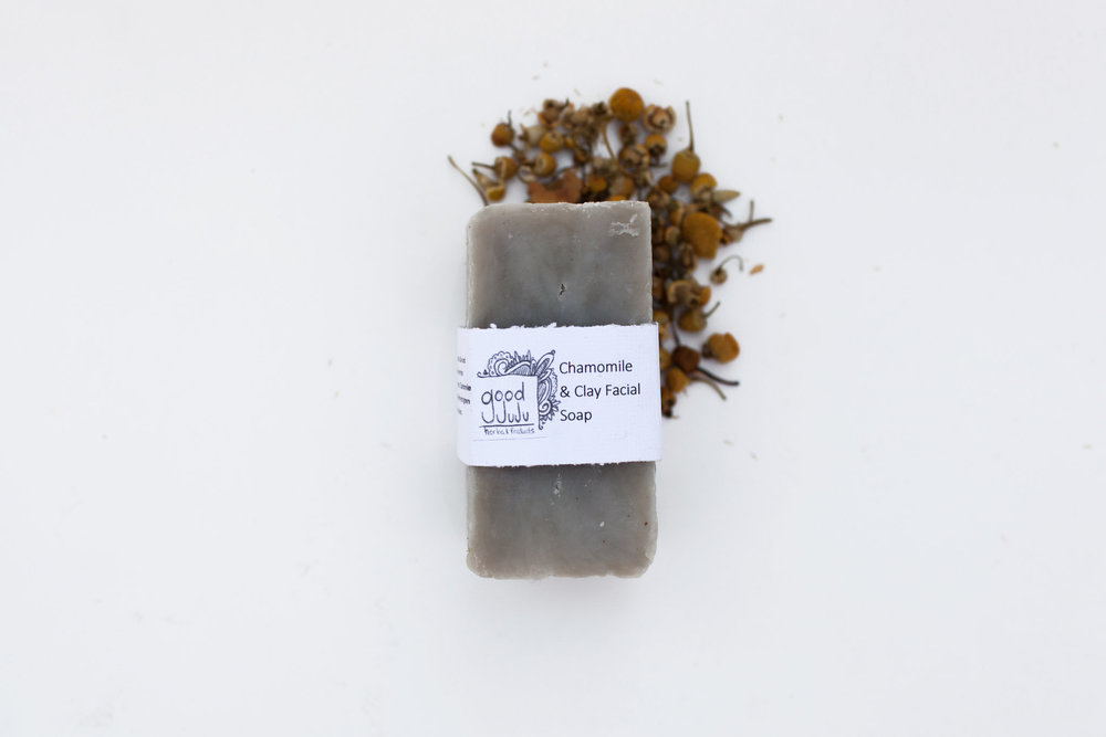 A good way to work clay into your everyday routine is with the Chamomile and Clay facial soap. A perfectly balanced, chemical free face wash made with a chamomile tincture and French green clay and bentonite clay.
