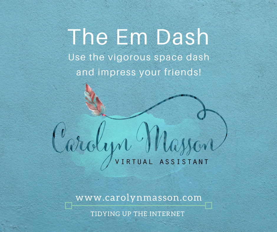 Make a dash for success! — Carolyn Masson
