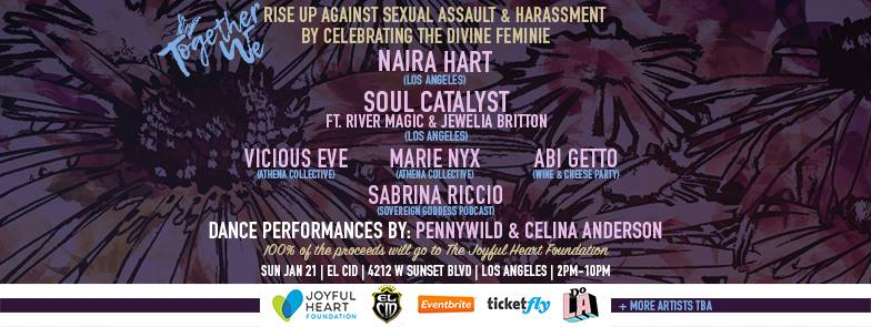 TogetherWe: Rise Up Against Sexual Assault + Harassment by Celebrating the Divine Feminine