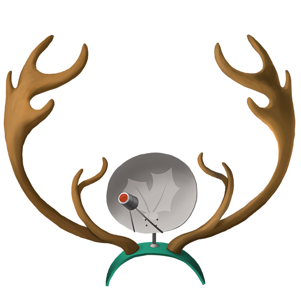 Antlers Satellite Dish