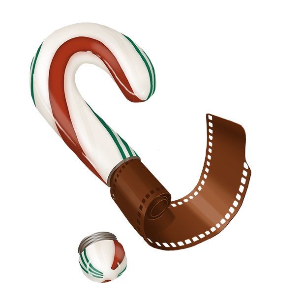 Candy Cane with Hidden Microfilm
