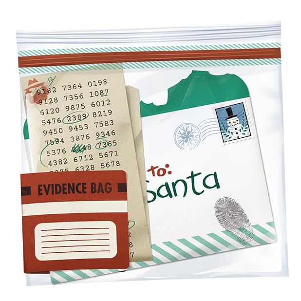 Santa Letter Evidence Bag