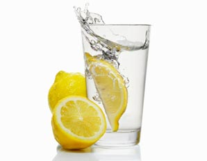 squeeze some lemon into purified water. It is very alkalizing.