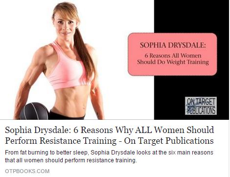 My in depth article lists all the main reasons why performing resistance training is A MUST for all women.