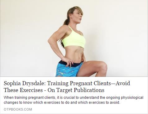 OTP article, exercises to avoid during pregnancy — SophiaFIT