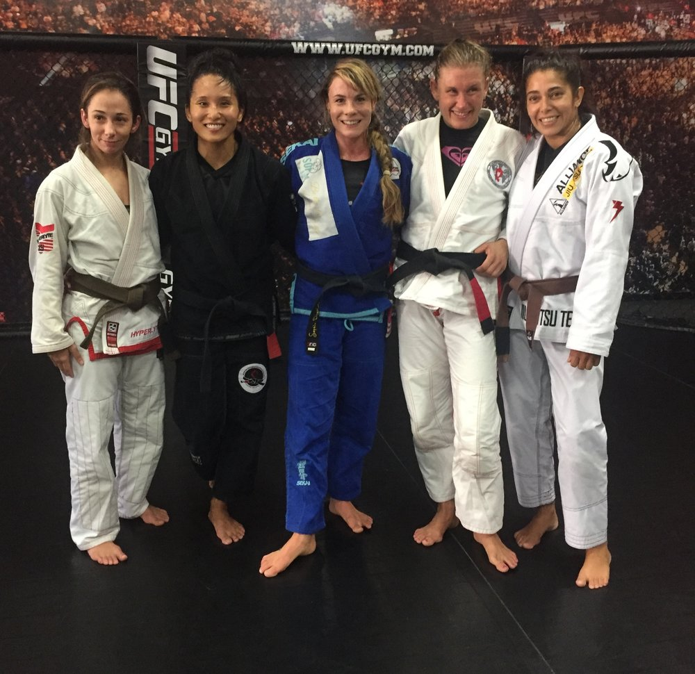 Black and brown belt ladies at my camp!!!