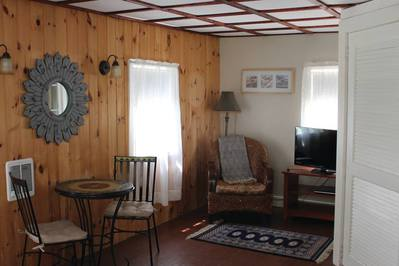 The interior of one of the charming Beechtree Cottages.