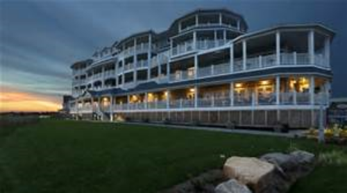 The Madison Beach Hotel is right on the water