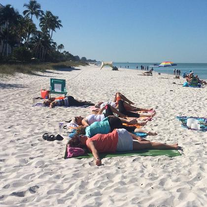 naples beach yoga lowdermilk park